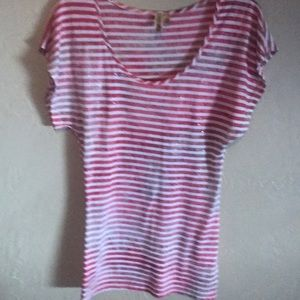 Red and white top from BKE